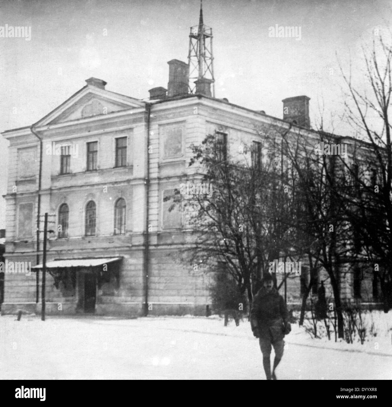 Negotiation building for the Treaty of Brest-Litovsk, 1918 - Stock Image