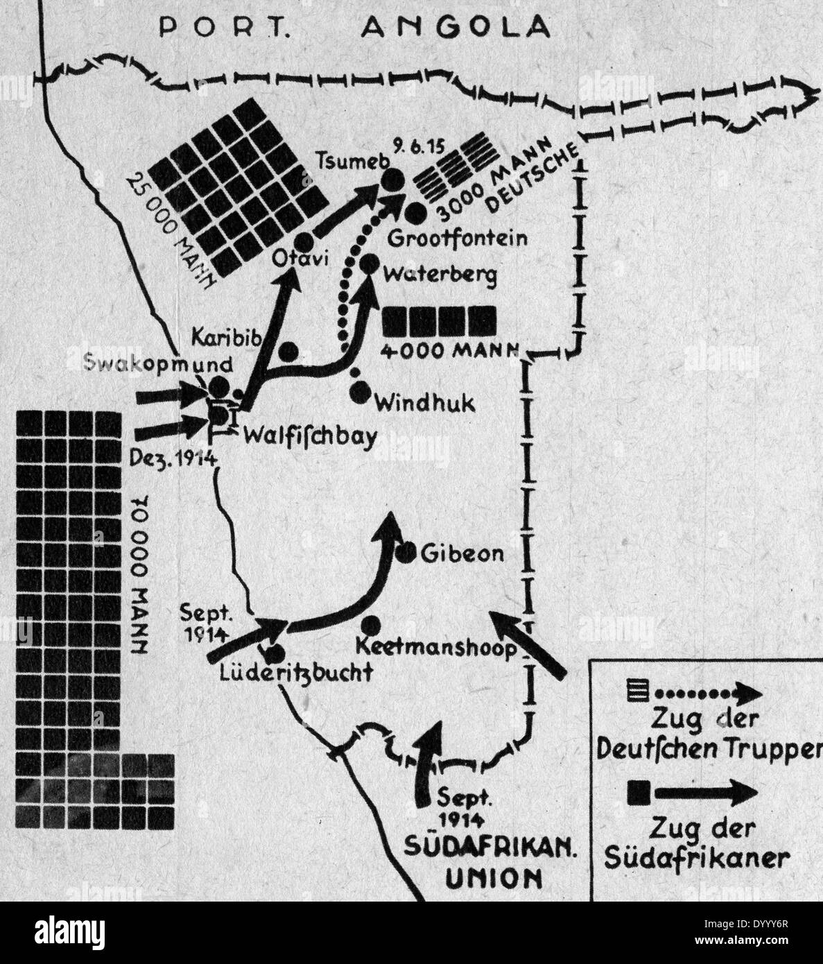 Map of german south west africa in world war i stock photo 68840879 map of german south west africa in world war i ccuart Images