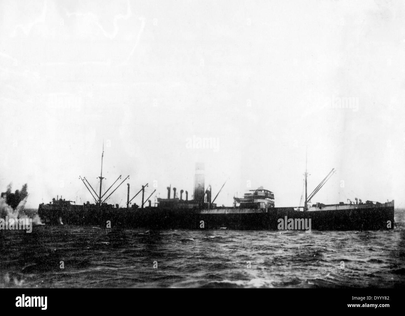 Naval warfare in German East Africa in World War I - Stock Image