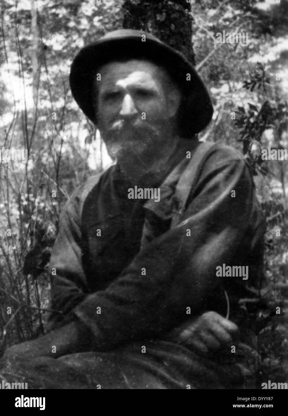 Piet Nieuwenhuizen in German East Africa in World War I - Stock Image