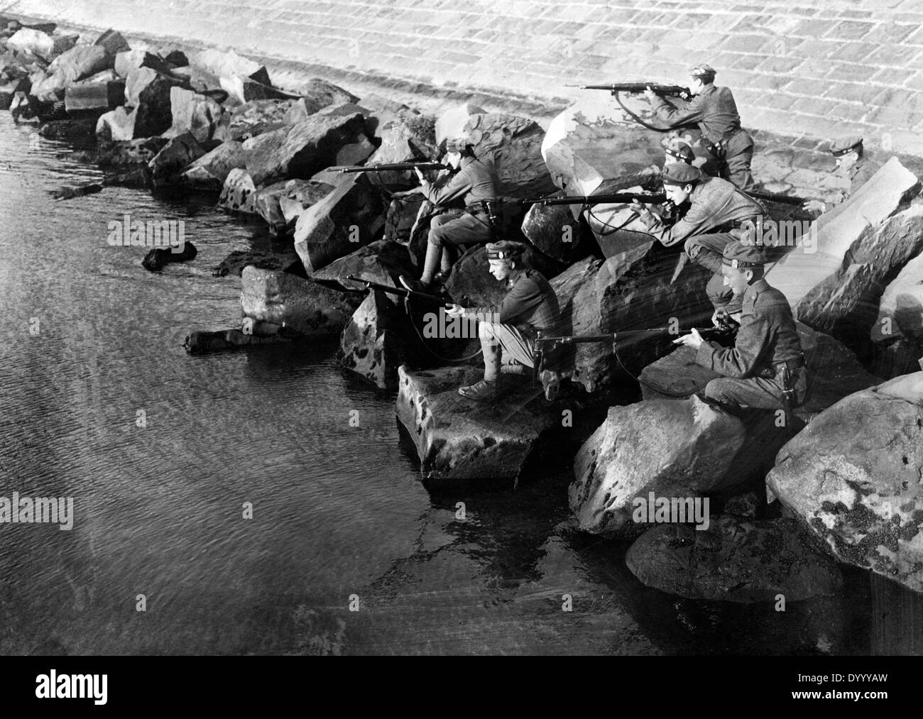 Young soldiers on the Adriatic, 1917 - Stock Image