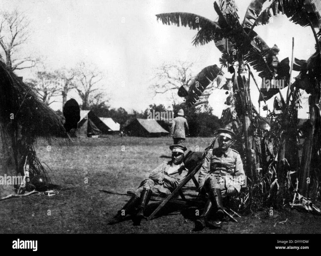 Base camp in German East Africa in World War I - Stock Image