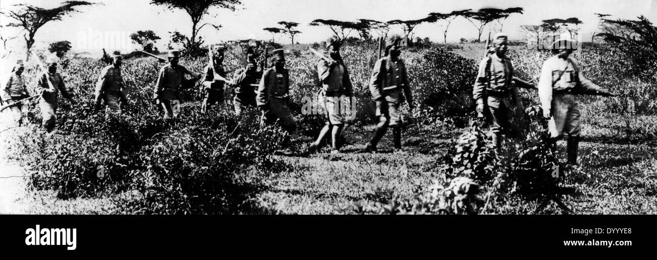 Askaris in German East Africa in World War I - Stock Image