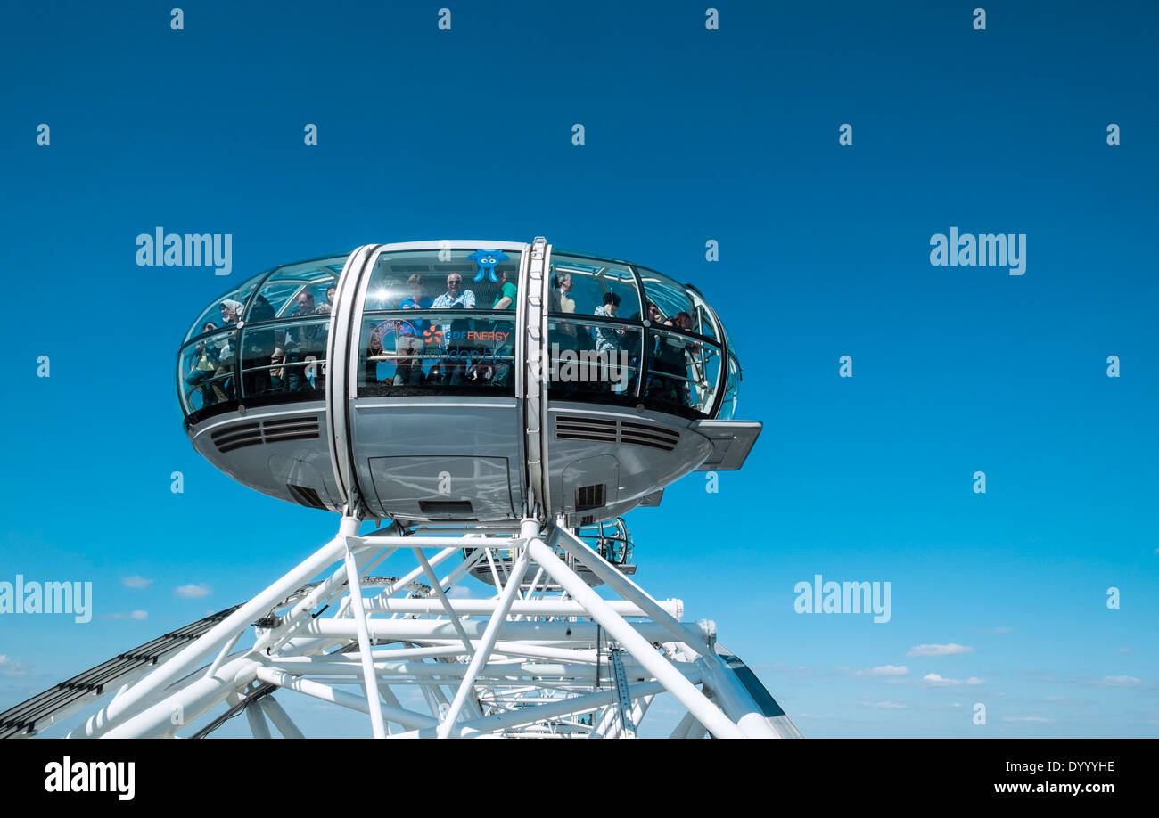 London Eye or Millennium Wheel  in London United Kingdom - Stock Image