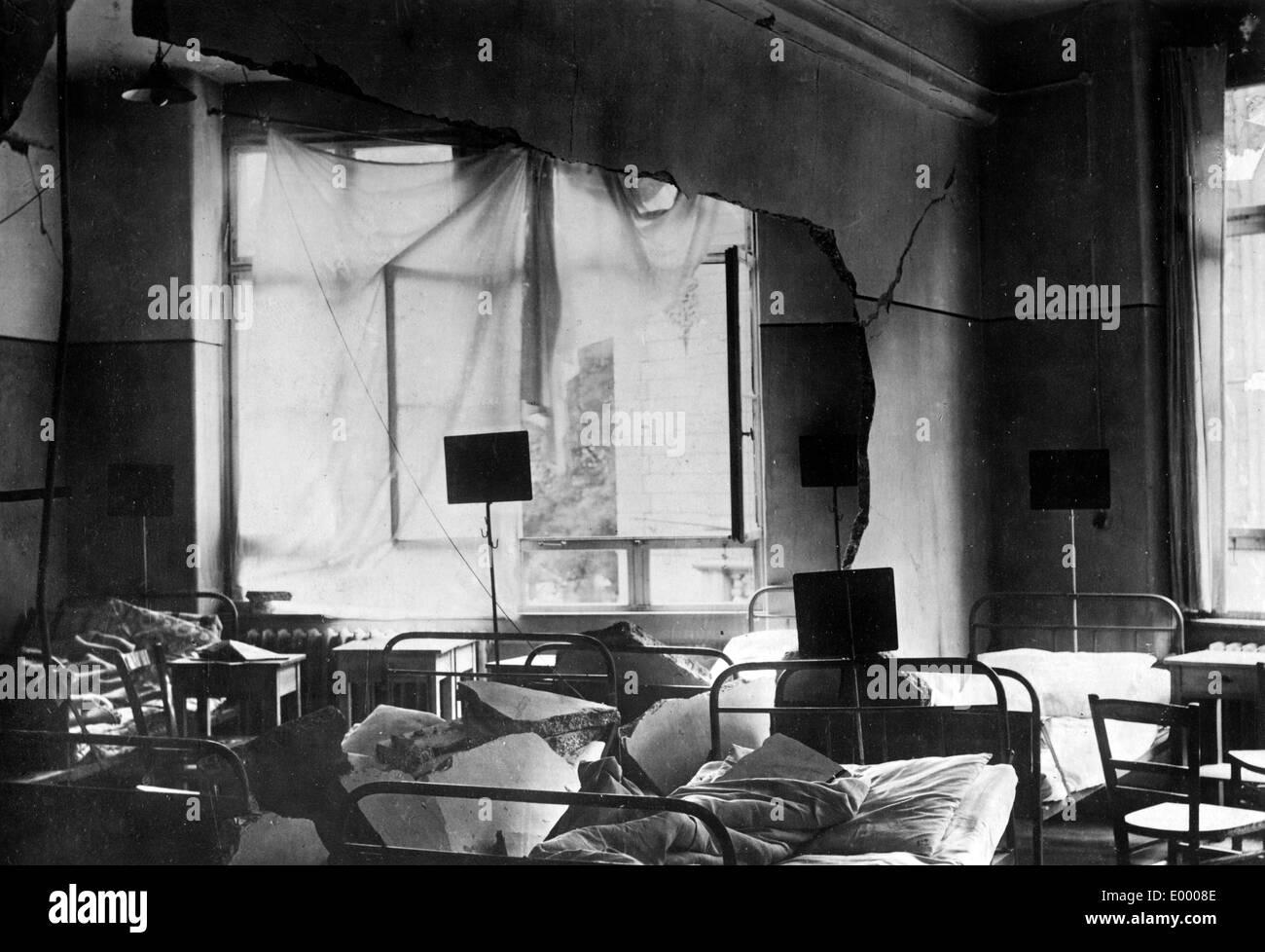 Demolished medical hospital, 1917 - Stock Image