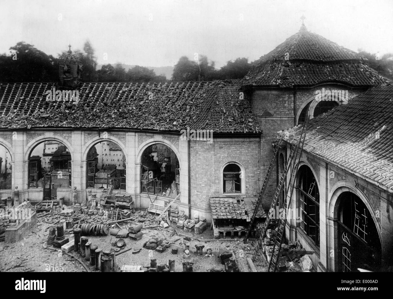 Demolished museum, 1918 Stock Photo