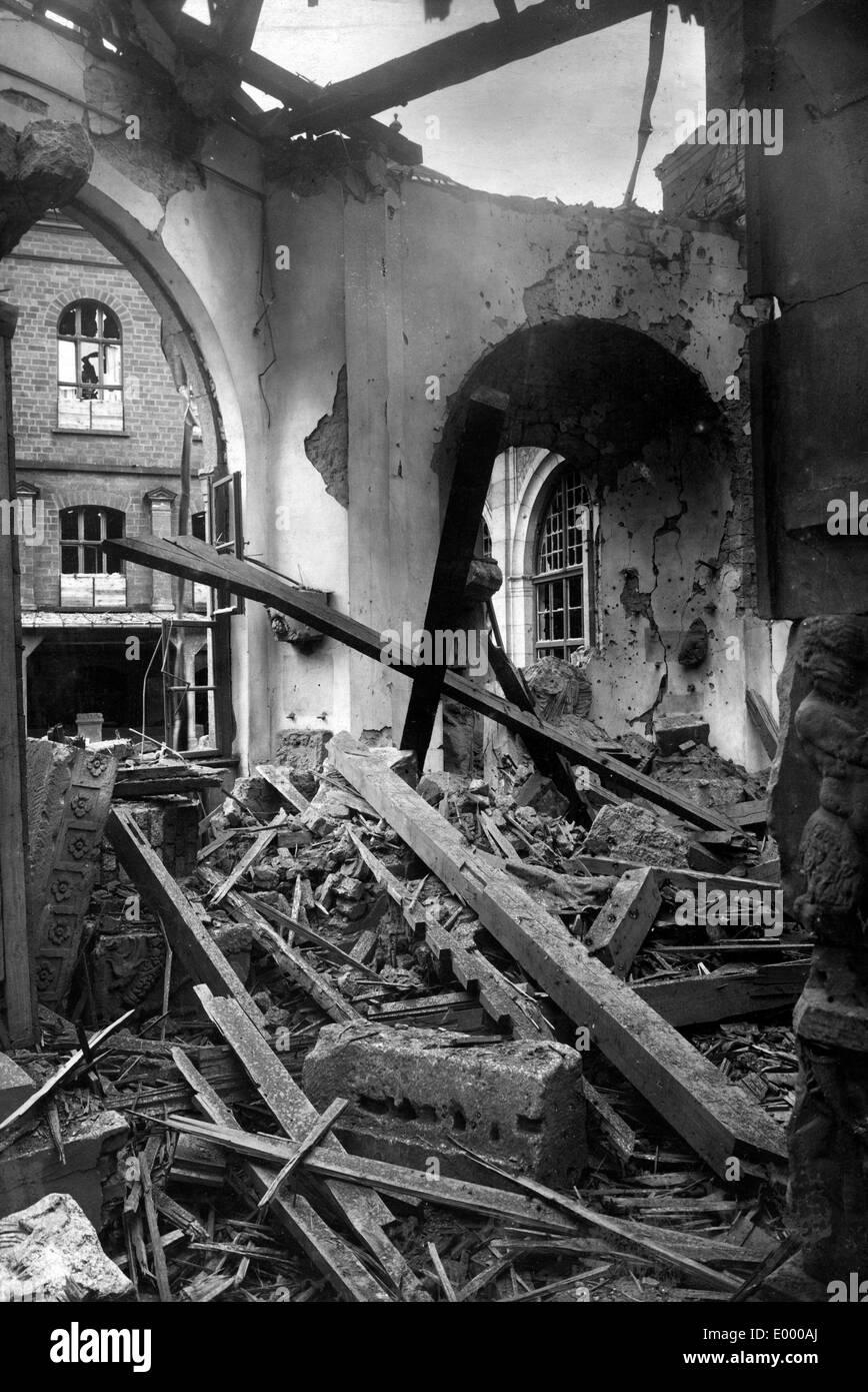 Demolished museum, 1918 - Stock Image