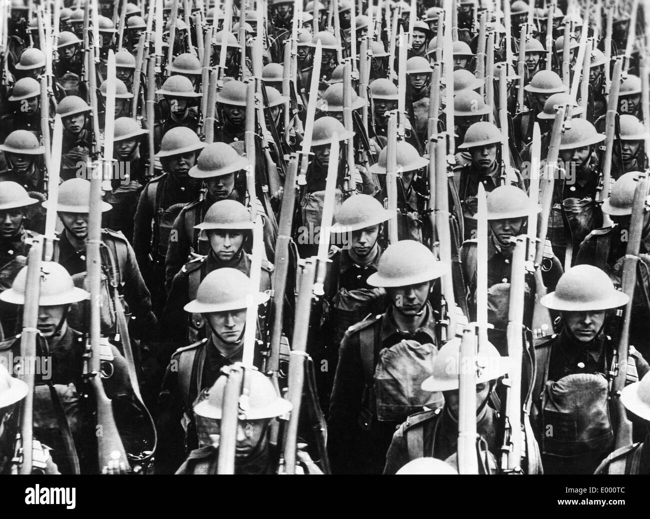 English troops at the Western Front - Stock Image