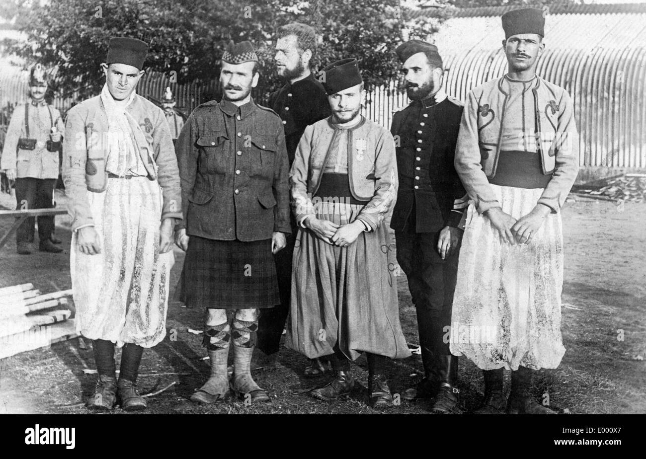 Prisoners from different countries, 1914 - Stock Image
