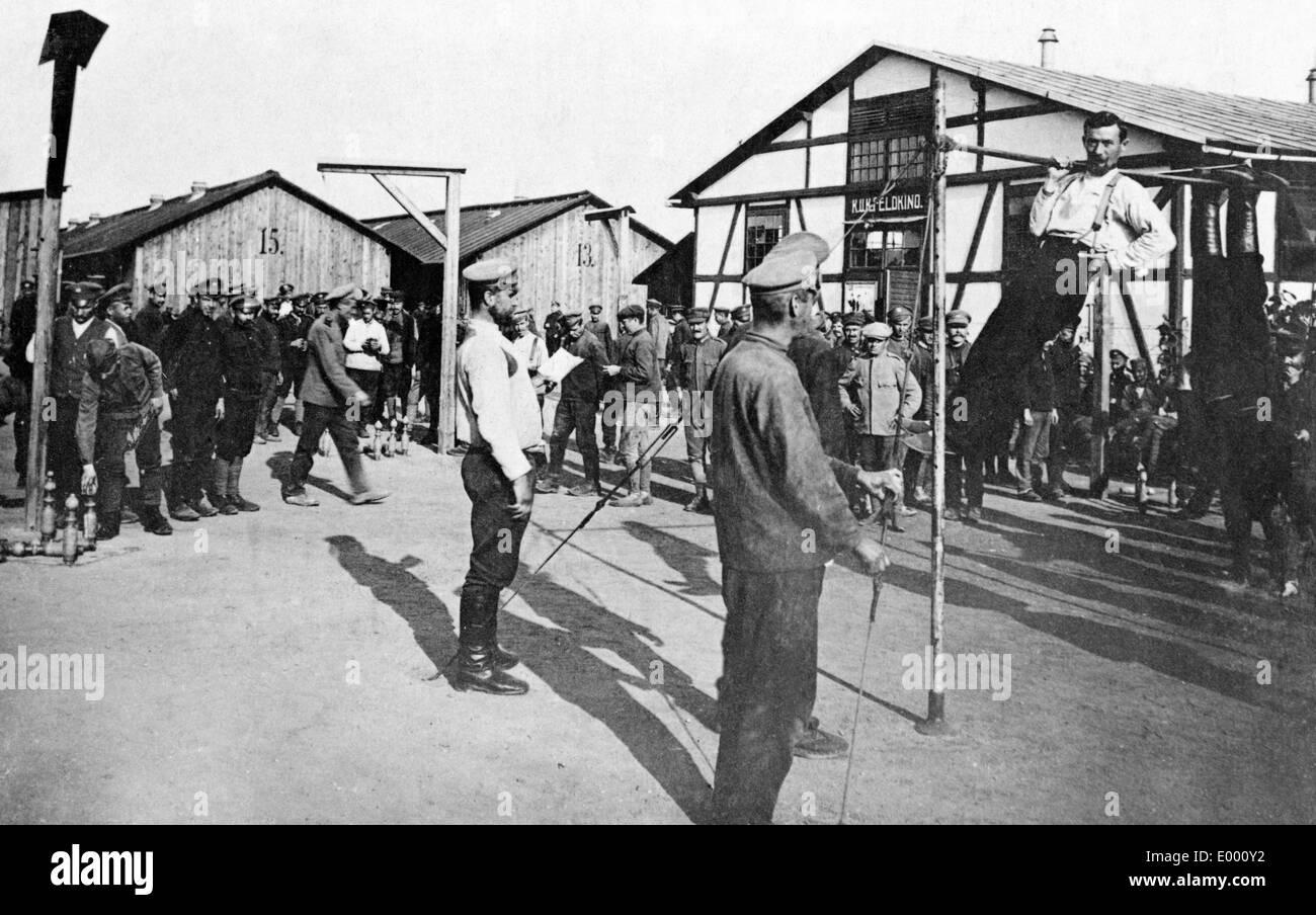 Prisoners of war in Austro-Hungary, 1917 - Stock Image