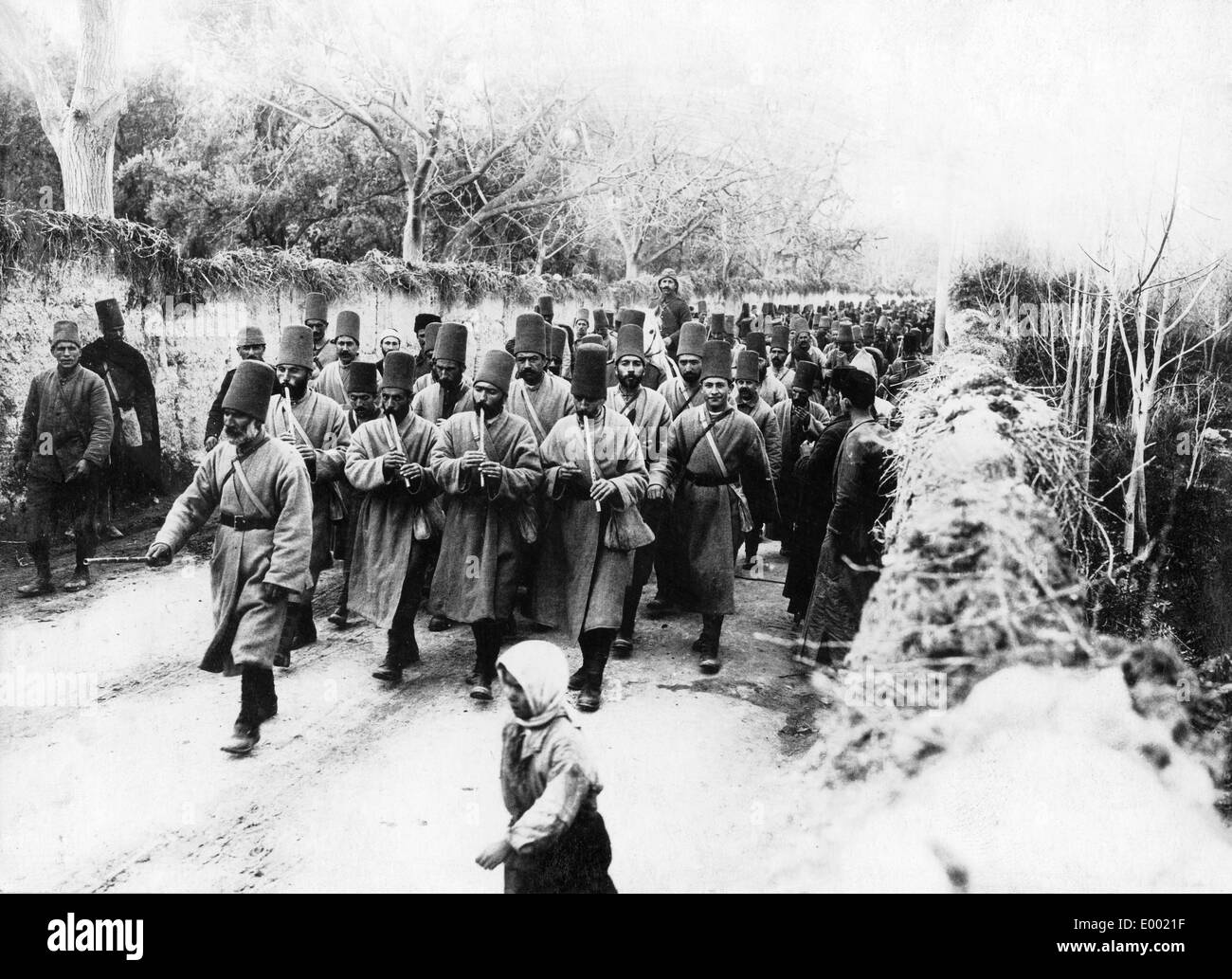 Turkish military chapel in Syria, 1914 Stock Photo