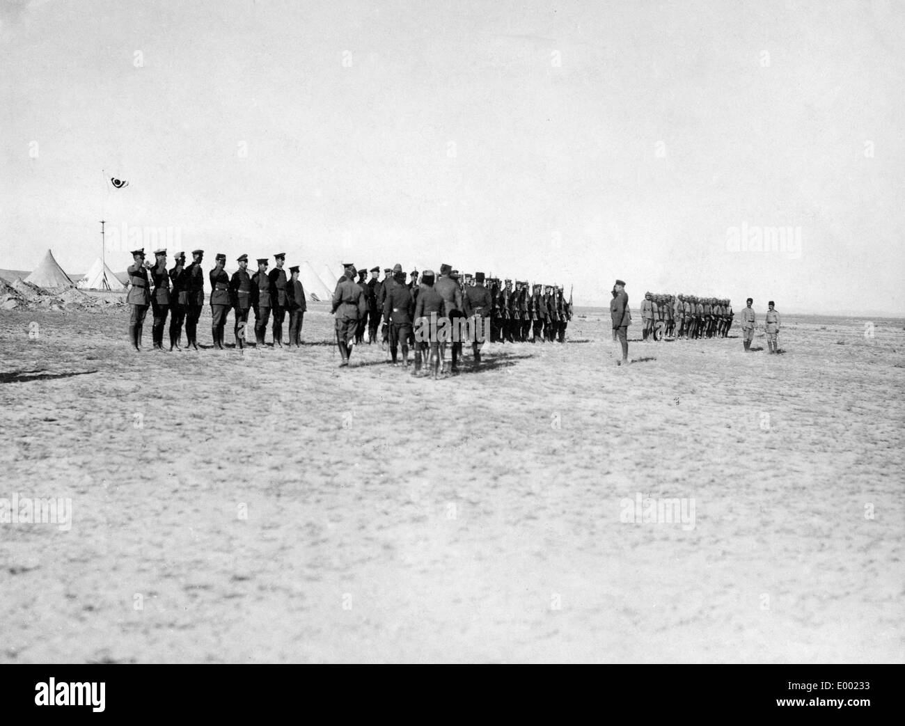 Welcoming Djemal Pasha, 1917 Stock Photo