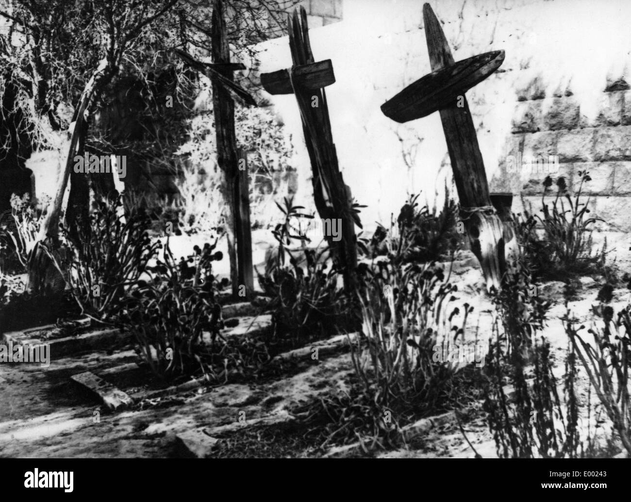 Graves of German airmen, 1936 - Stock Image