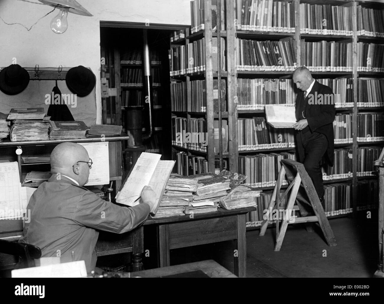 Military records archive in Berlin during the First World War - Stock Image