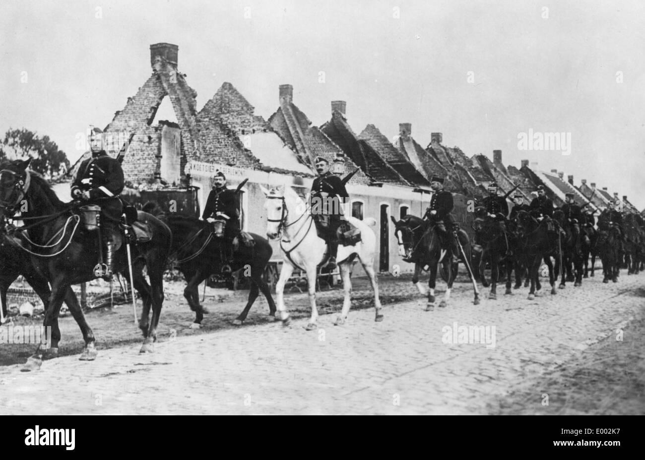 Belgian cavalry, 1914 - Stock Image