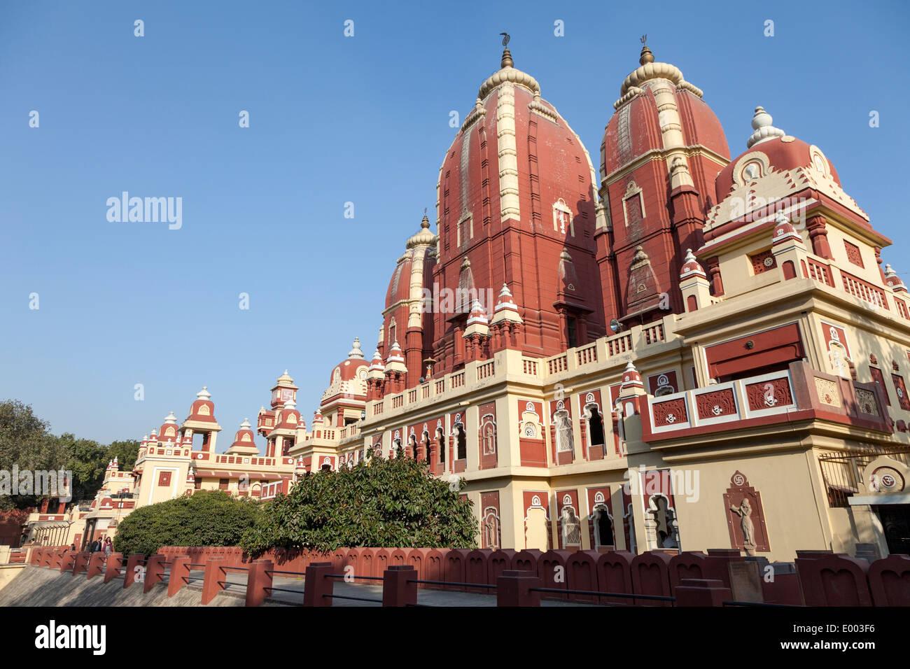 New Delhi, India. Lakshmi Narayan Mandir, a Hindu Temple Inaugurated 1939. Architect Chandra Chatterjee. - Stock Image
