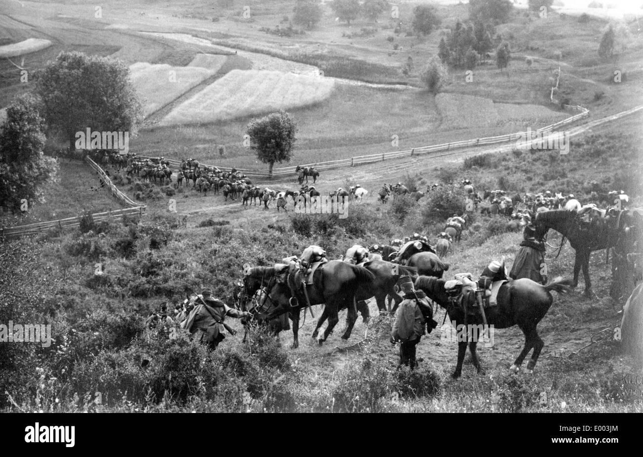 Austro-Hungarian cavalry in Galicia, 1915 - Stock Image