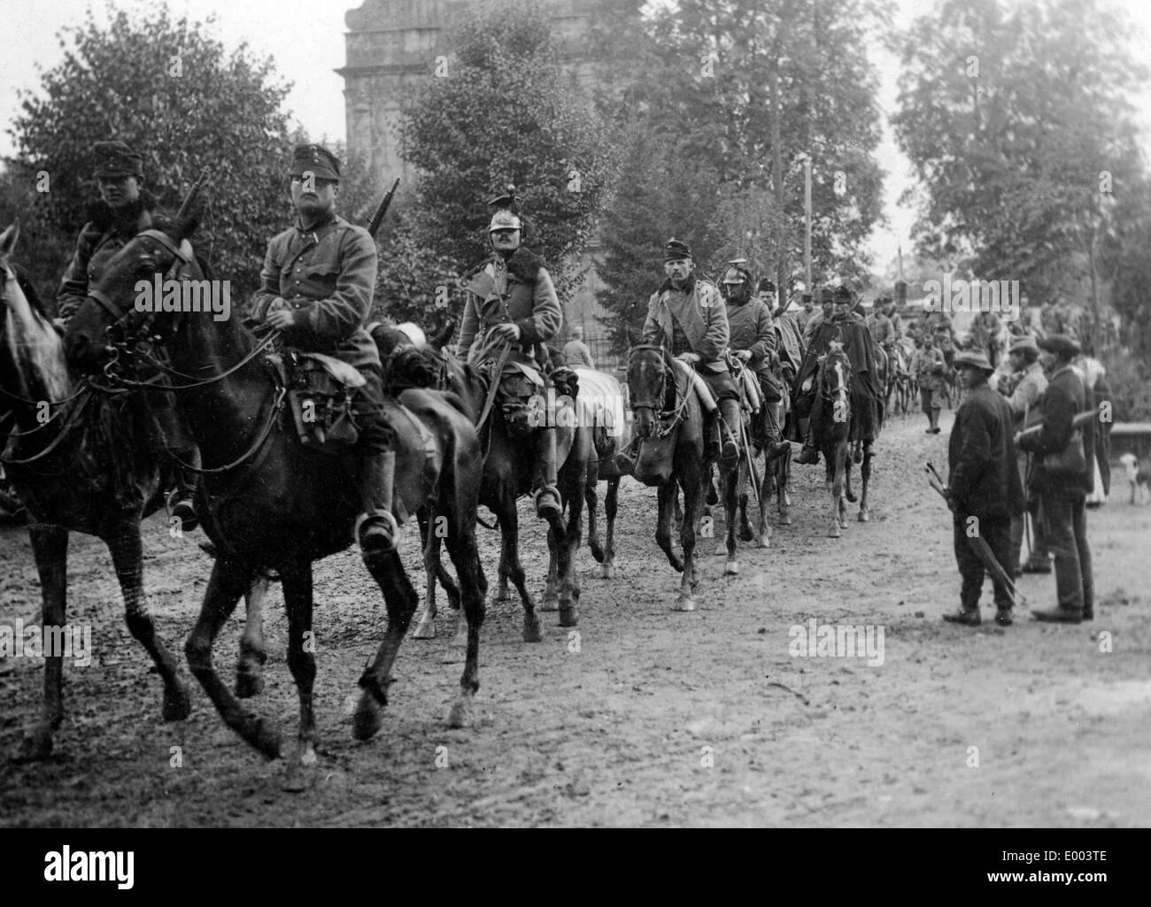 Austro-Hungarian uhlans in Galicia, 1914 - Stock Image
