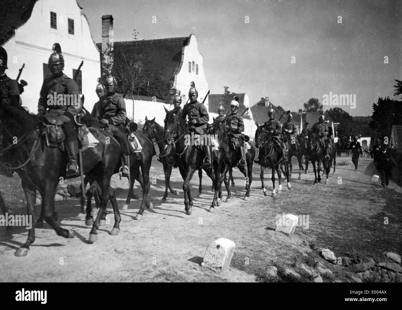 Austro-Hungarian dragoons, 1914 - Stock Image