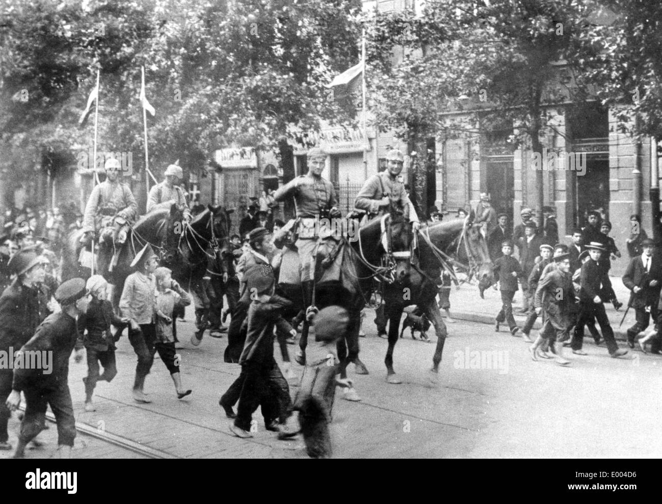 German Cavalry at the Eastern front, 1915 - Stock Image