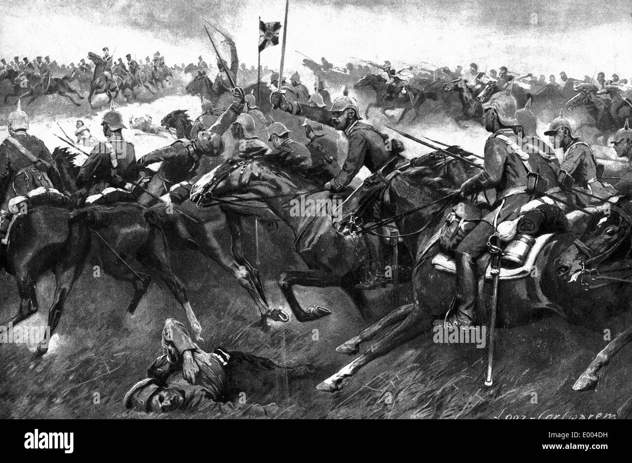 German and Austro-Hungarian cavalry, 1914 - Stock Image
