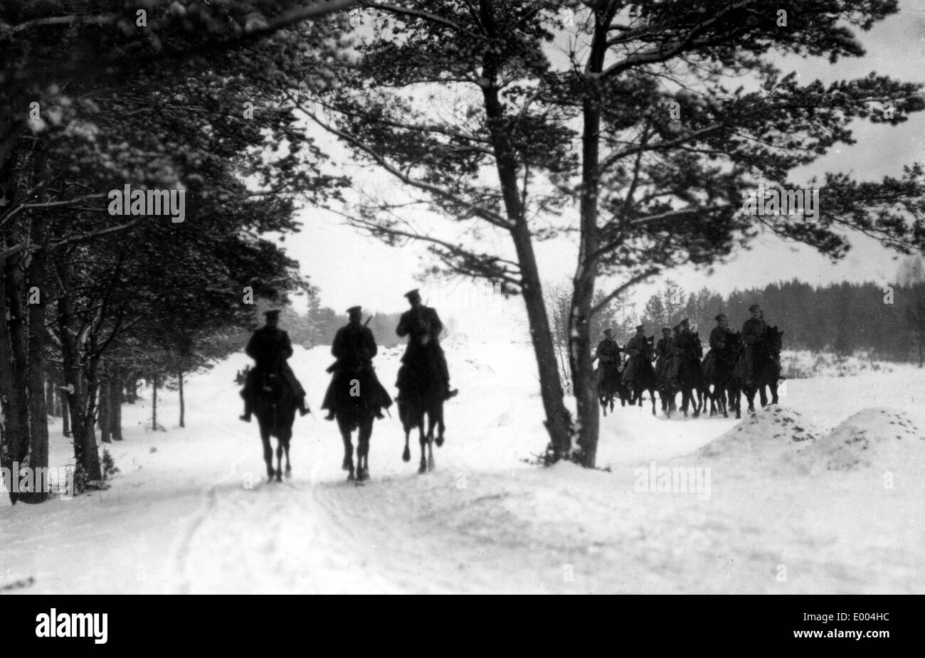 Russian cavalry during WW I - Stock Image