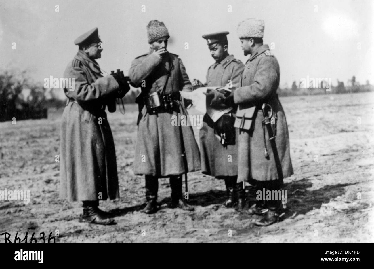 Russian infantry division staff - Stock Image
