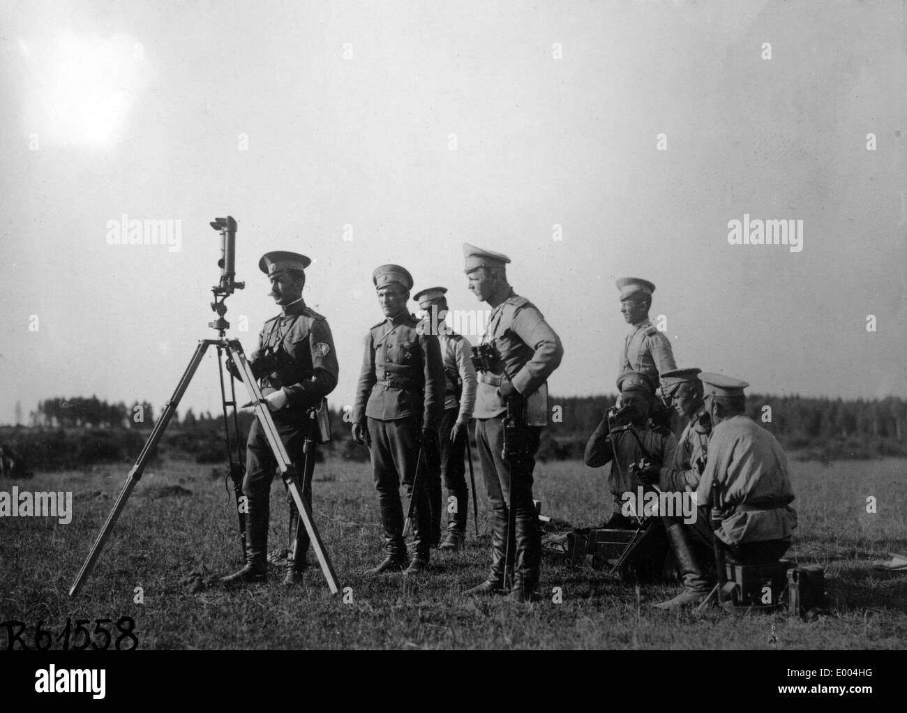 Russian artillery observation post Stock Photo