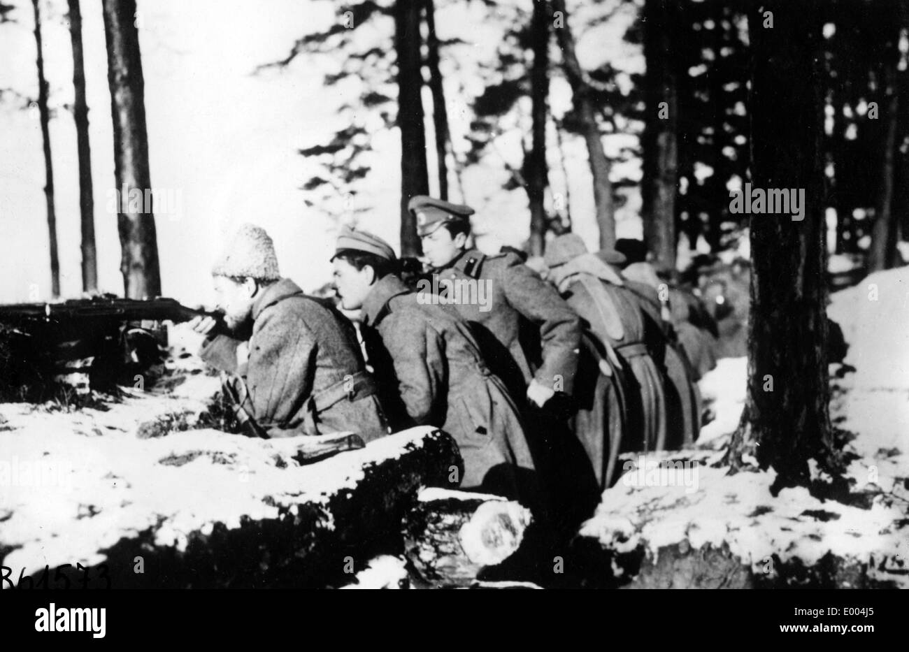 Russian troops during WW I Stock Photo