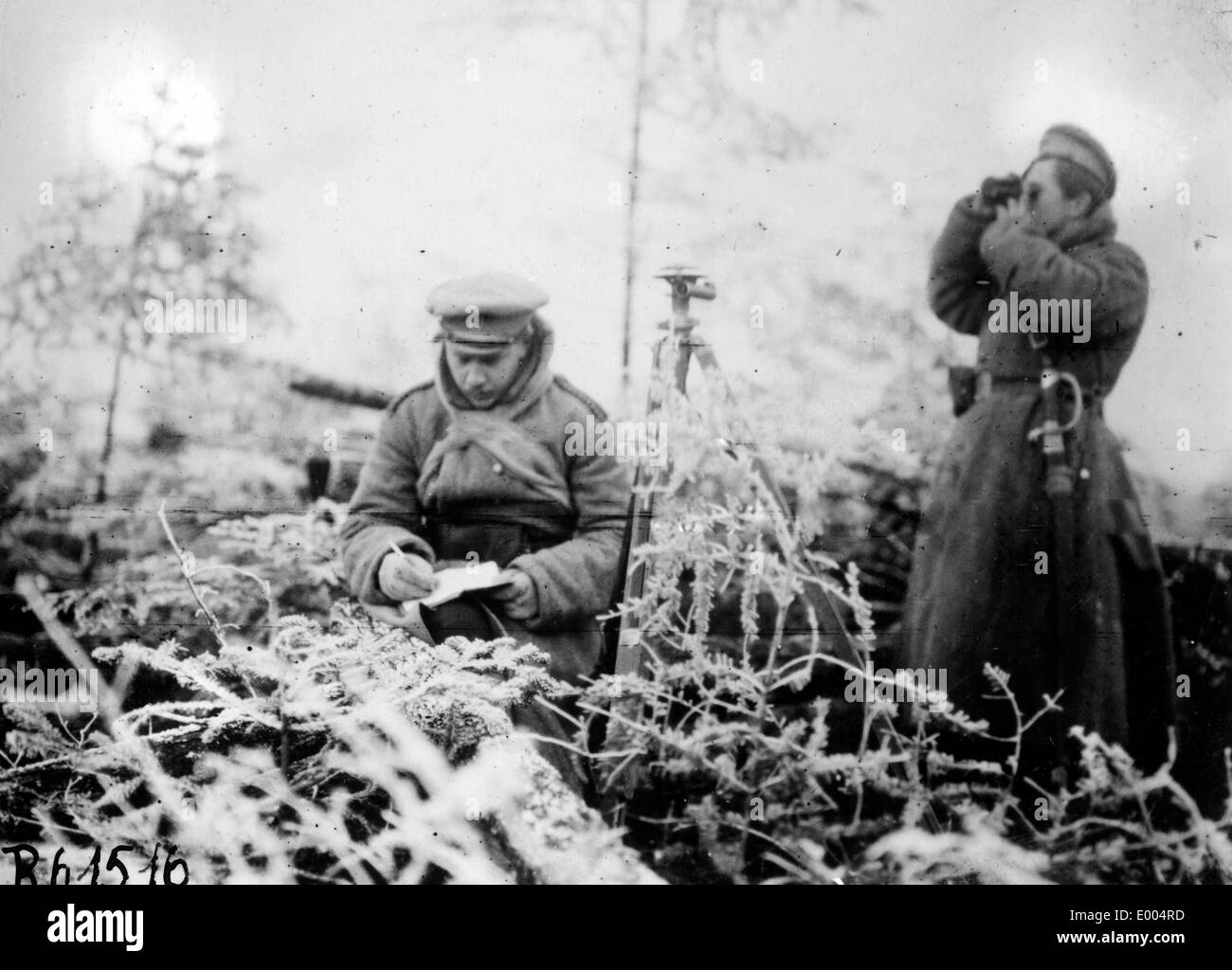 Russian observation post in the First World War - Stock Image