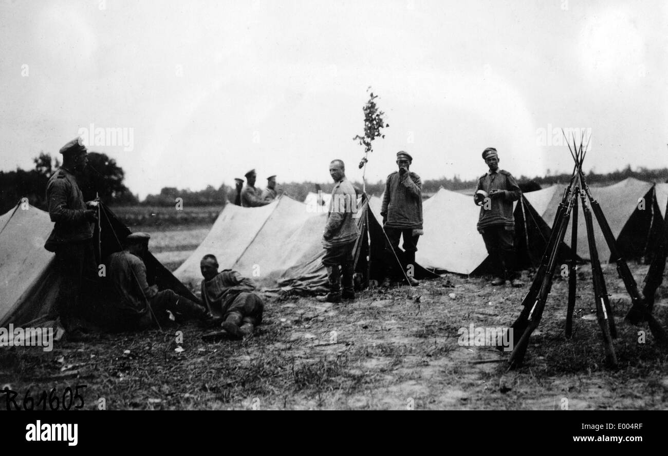 Russian camp in the First World War Stock Photo