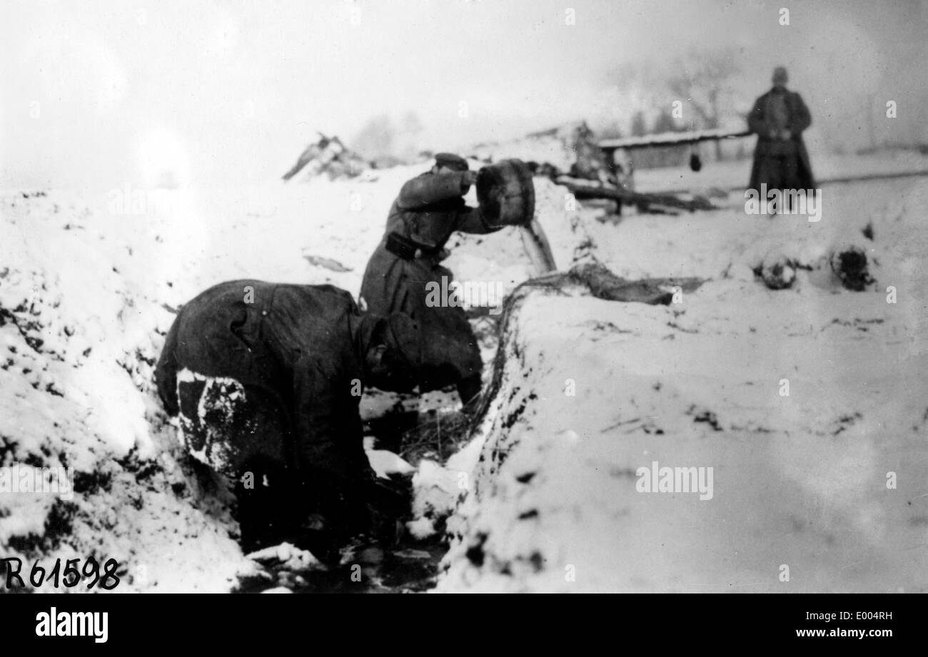 Russian troops in the First World War Stock Photo