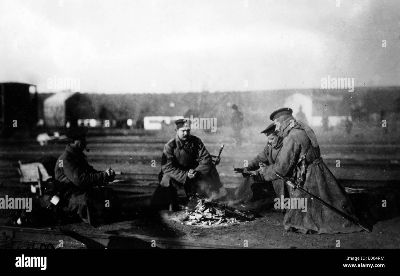 Russian troops in WW I Stock Photo
