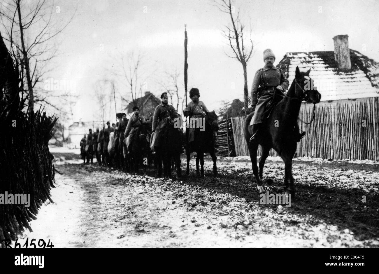 Cossack detachment during WW I Stock Photo