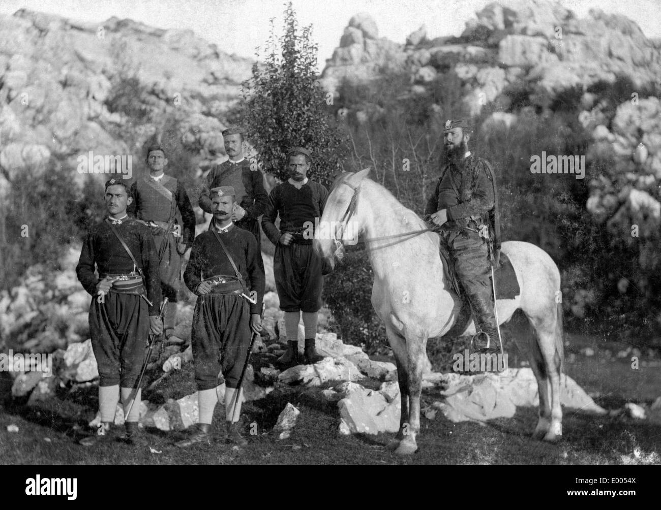 Montenegrin soldiers, 1899 - Stock Image