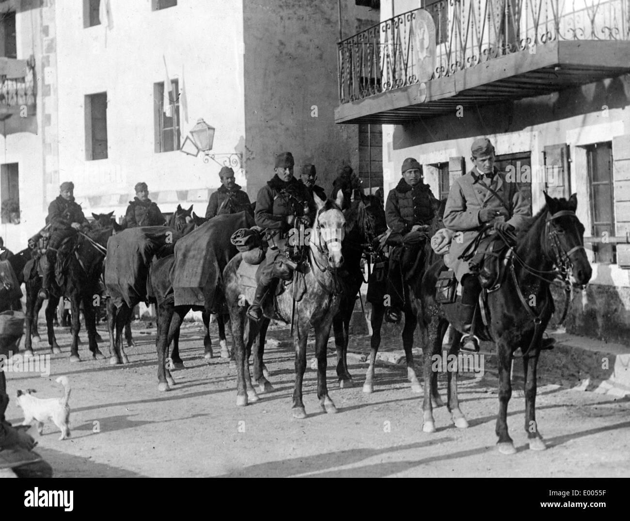 Austro-Hungarian Honved hussars in Montnegro, 1916 Stock Photo