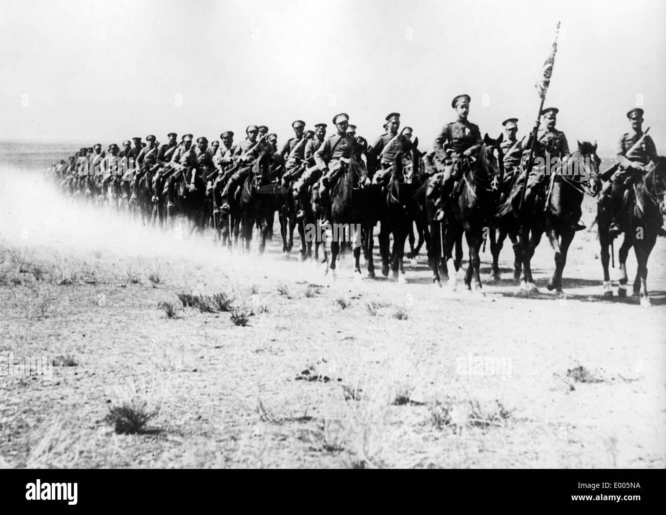 Bulgarian cavalry in the Dobruja, 1918 - Stock Image