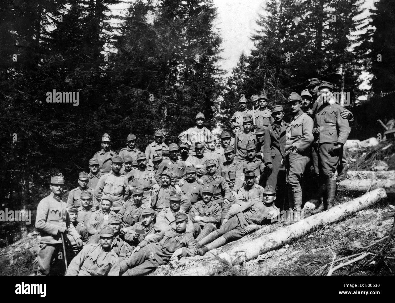 Austro-Hungarian soldiers in the Fort Campolongo, 1916 Stock Photo