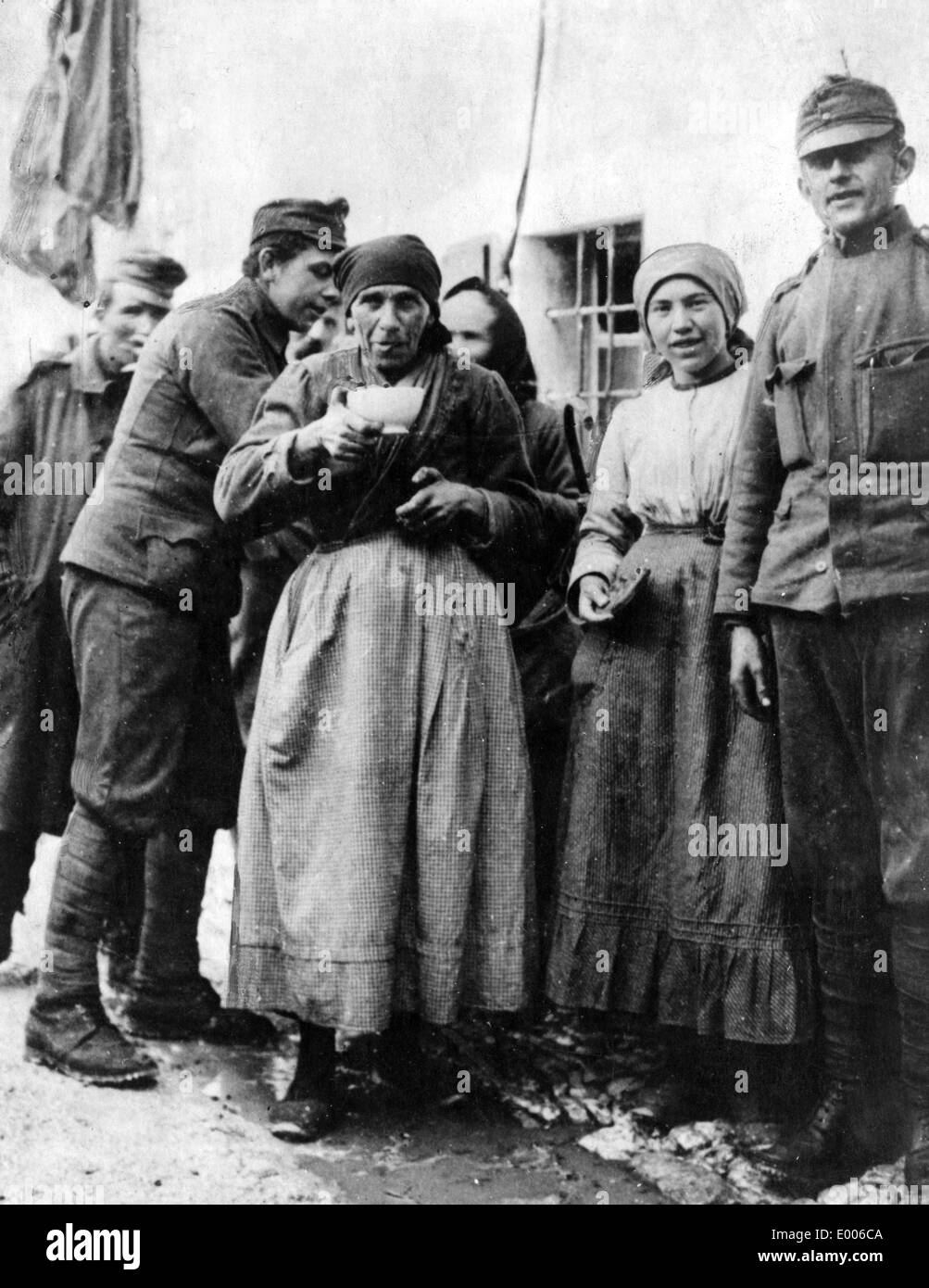 Food for the local Venetians, 1917 Stock Photo