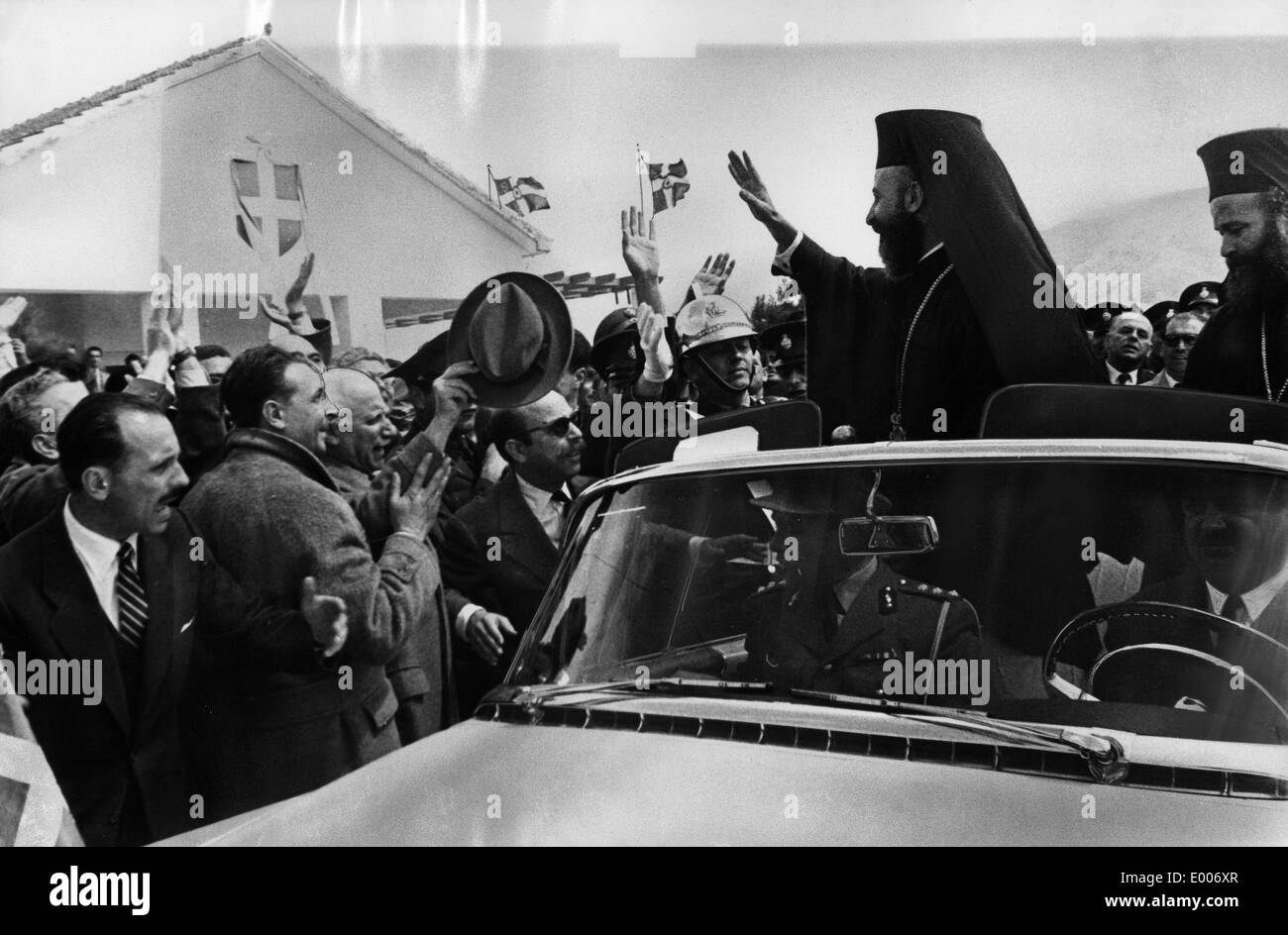 The return of Archbishop Makarios, 1957 - Stock Image