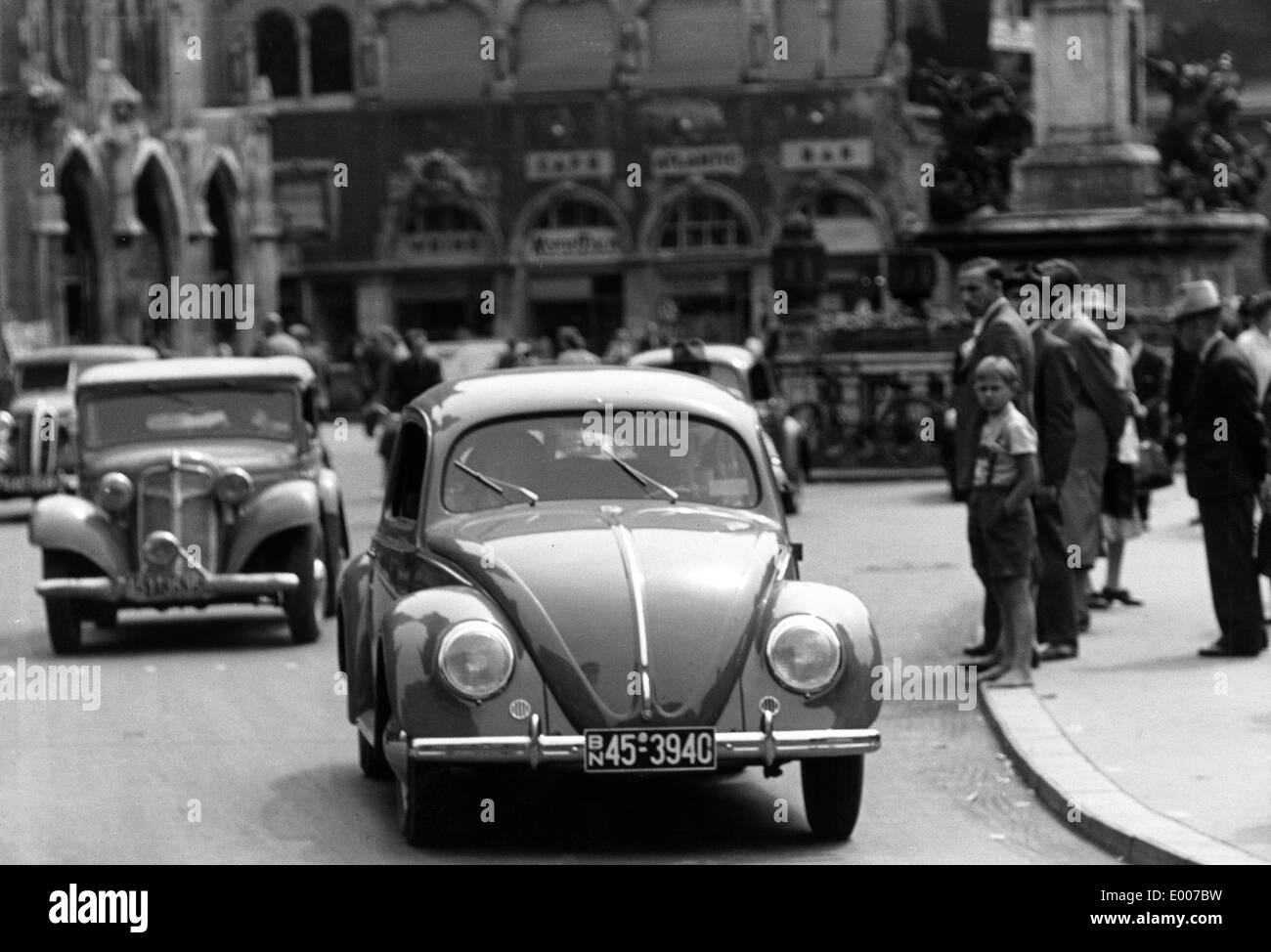 VW Beetle in Munich, 1949 - Stock Image