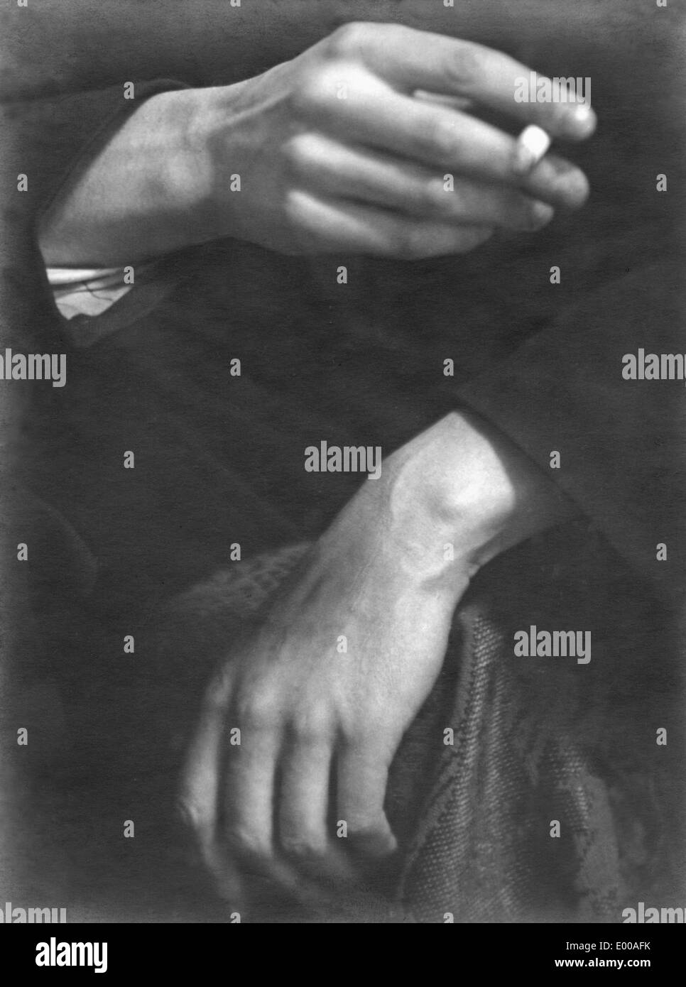 Hands  of an aristocrat - Stock Image