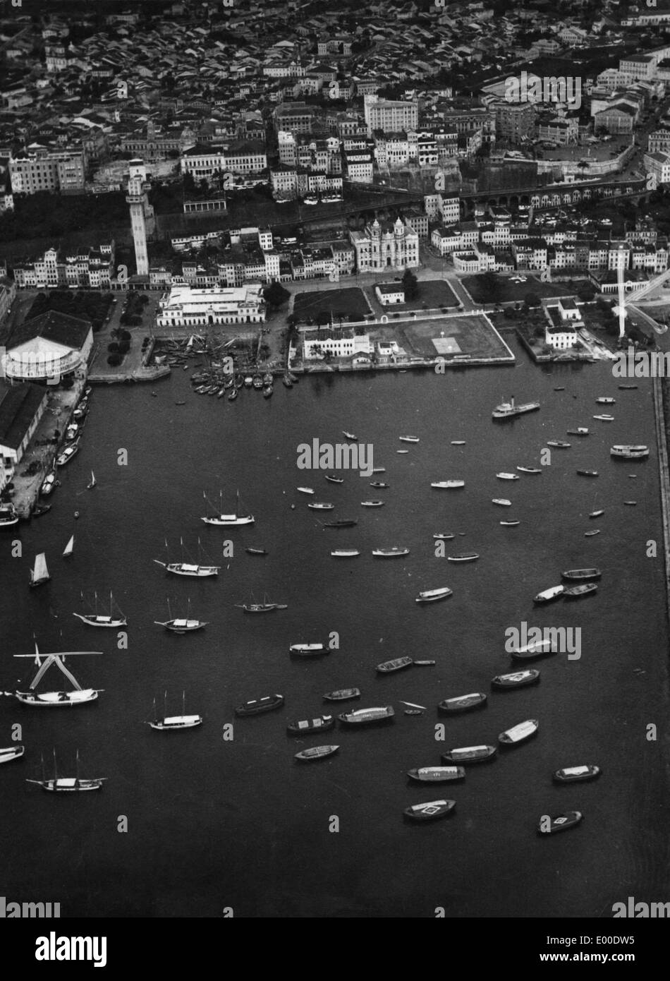 The port of Salvador da Bahia on the brasilian coast, 1934 - Stock Image