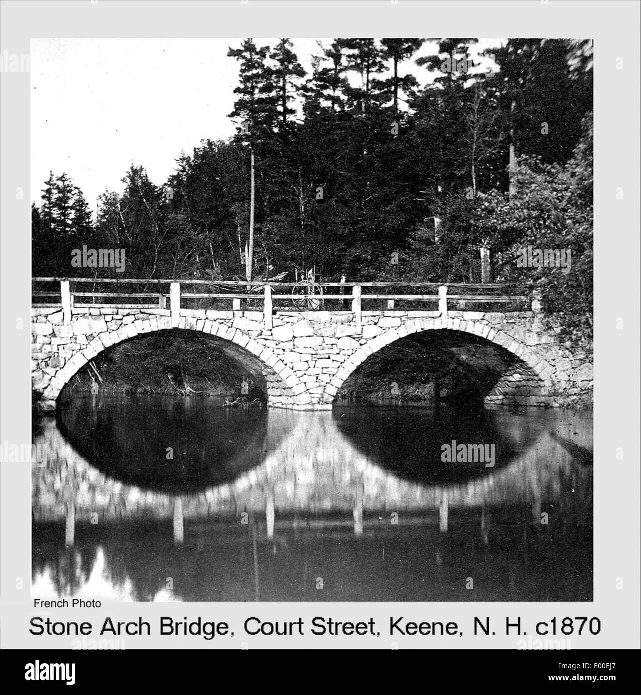 Arch Bridge, Keene New Hampshire - Stock Image