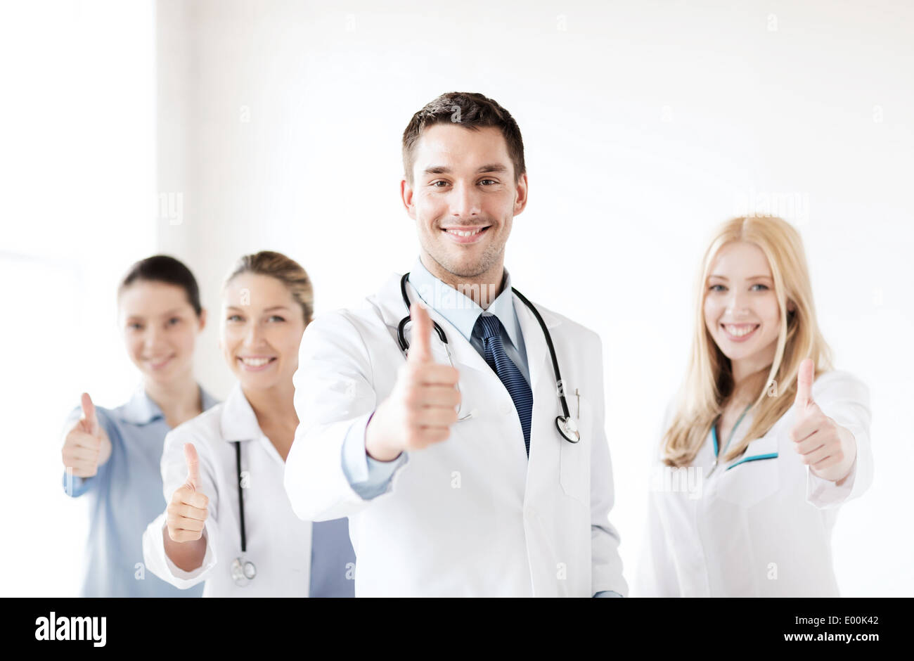professional young team or group of doctors - Stock Image