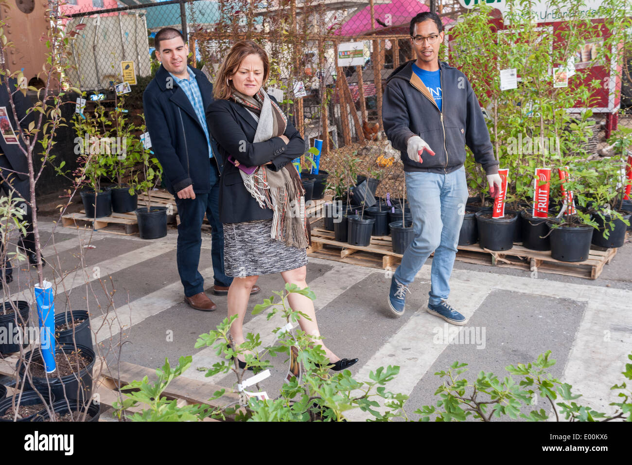 NYC City Council Speaker Melissa Mark Viverto At The Urban Garden Center In  East Harlem In New York