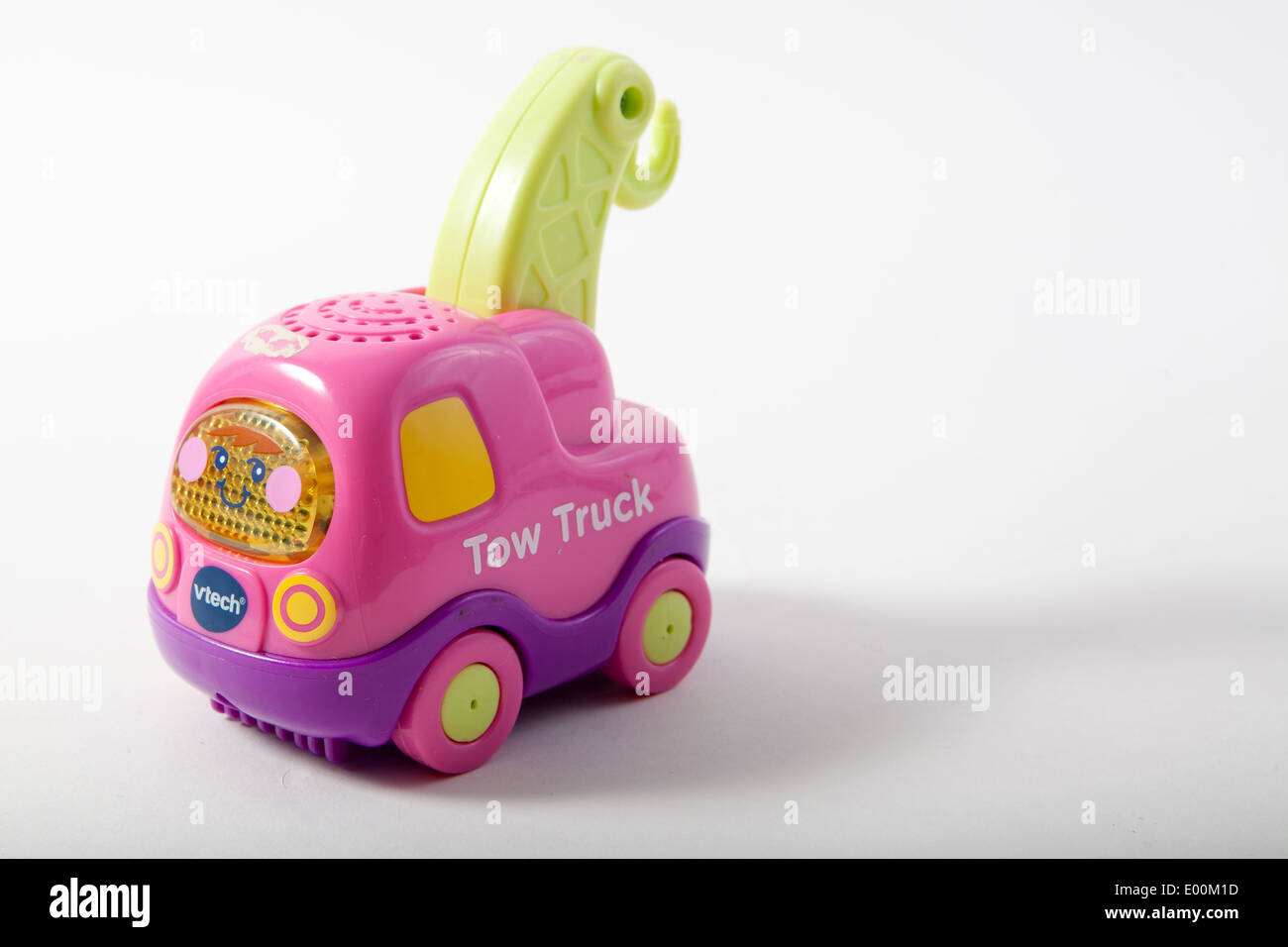 V Tech Garage : Toys on a white background vtech tow truck for the baby toot toot