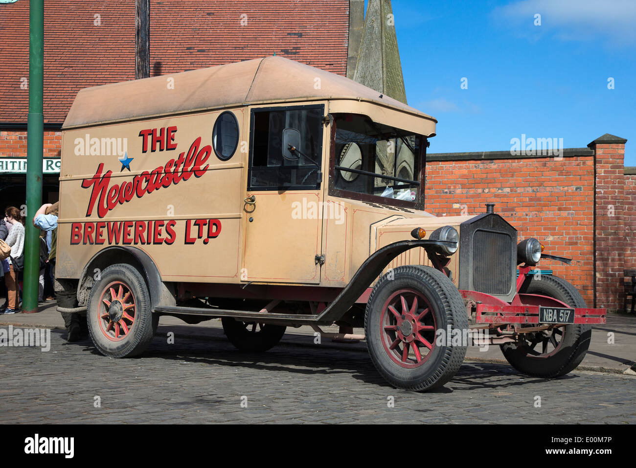 Newcastle Breweries vintage vehicle at the Beamish Museum, County Durham, England - Stock Image