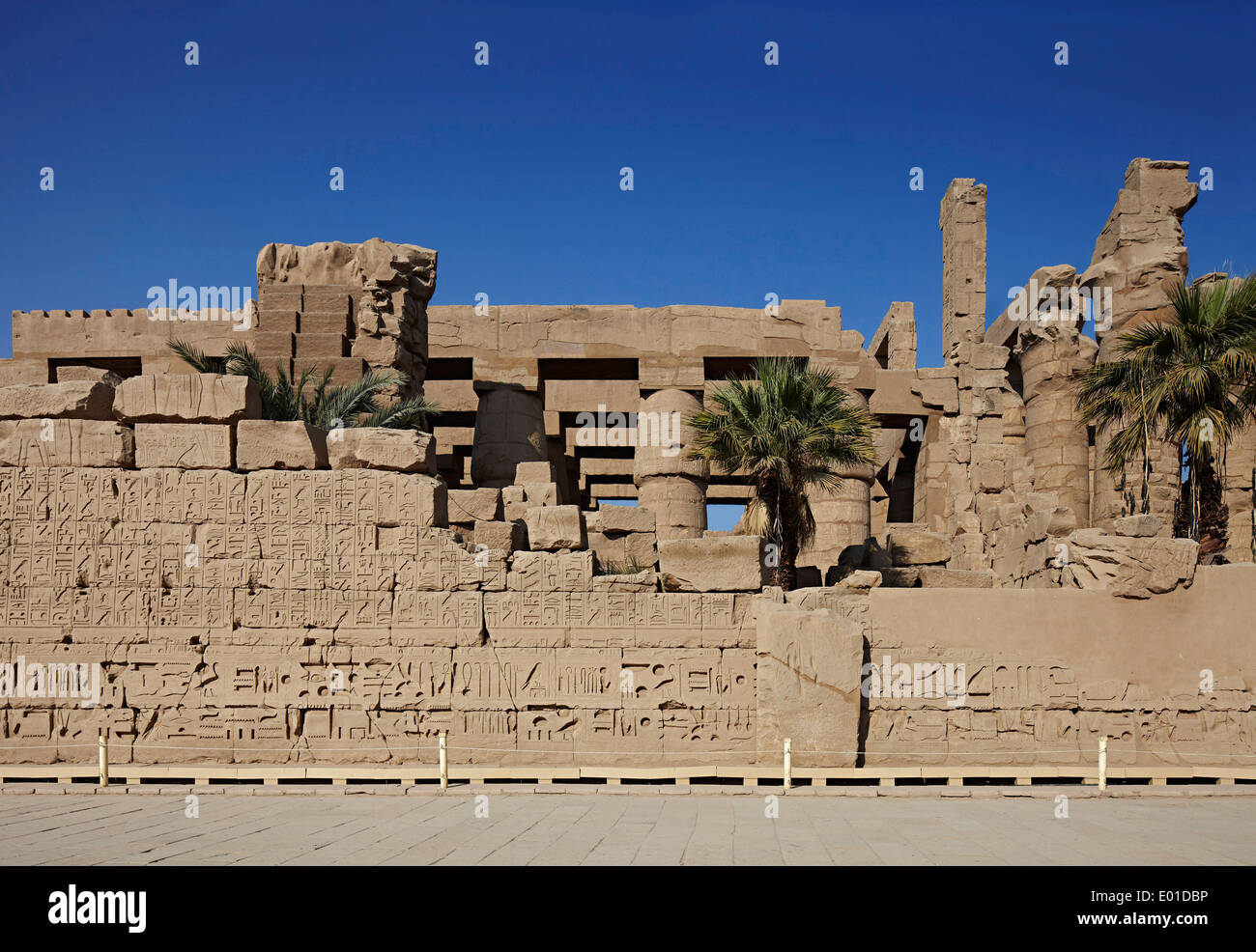 Karnak Temple. Largest religious building in the world. Open air museum - Stock Image