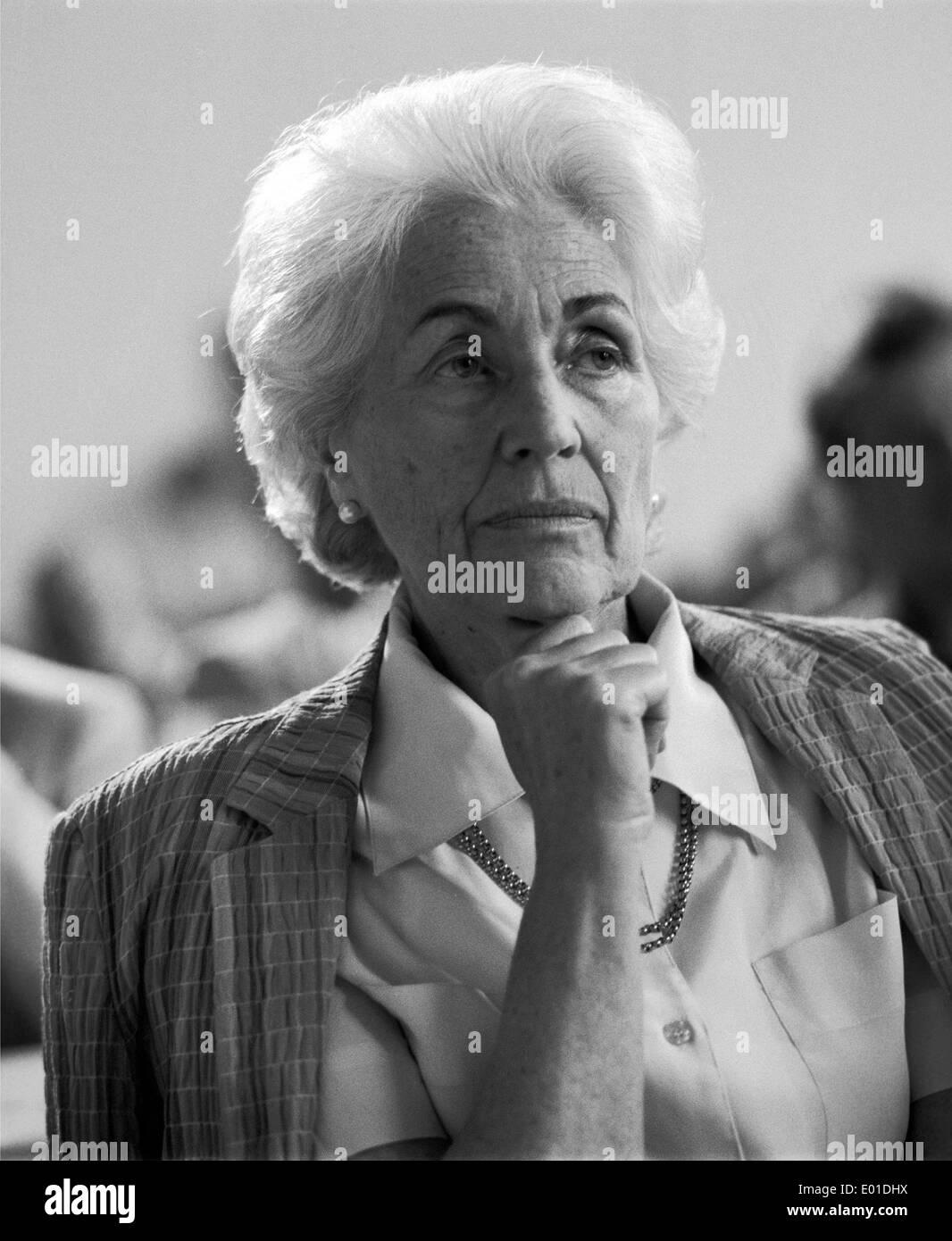 Hildegard Hamm-Bruecher, 1989 Stock Photo